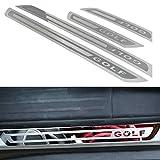 Car Styling Door Sill Scuff Plate Trim Welcome Pedal Cubierta Protectora para Volkswagen VW Golf 6 MK6 2009-2013