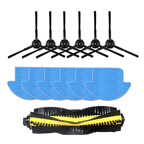 Reyee 13pezzi iLife V7S iLife V7S Pro robot aspirapolvere Parts kit (Main Brush * 1+ mop panni * 6+ spazzola laterale * 6) Chuwi iLife V7S Pro