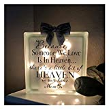 Awolf Sympathy Gift in Memory of Loved One, Luminous Memorial Blocks for Loss of Loved One, Loving Memory Cenotaph, Memorial Grieving Gifts for Loss of Mom or Dad in Heaven, Bereavement Gifts (Mom)