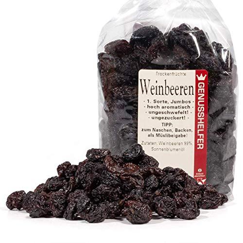 Weinbeeren Trockenfrüchte, 1 kg Vorteilspack, 1.Sorte, Jumbos, Rosinen, ohne Schwefel und ohne Zuckerzusatz - Bremer Gewürzhandel