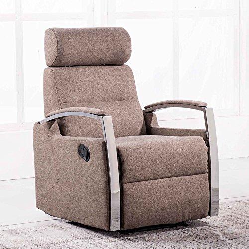 Adec - Sillón relax reclinable modelo DUCAL tejido Elegance color Moka