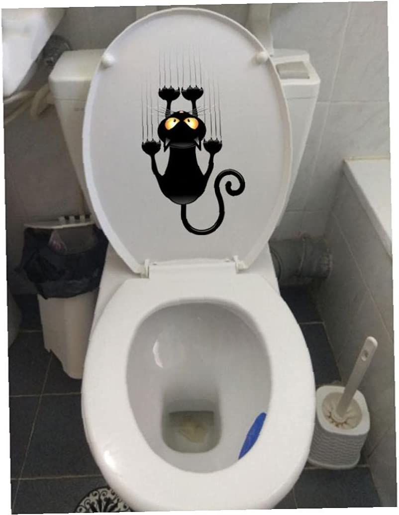 Ruluti New York Mall Claw Cat Toilet Sticker Funny Decals Wall Home D Bathroom Baltimore Mall