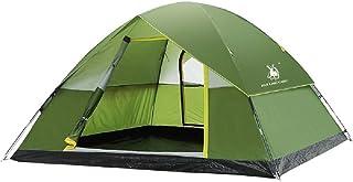 IDWOI-tält utomhustält, 6–8 personer dubbeltäckningstält, dubbeldörrs-ventilationställe, grön