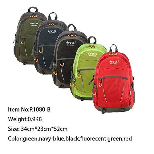 DFCD Herren und Damen Style Outdoor Reisen Camping Rucksack Sport Bergsteigen Tasche Langlauf Wandern Rucksack (Color : Navy-Blue)