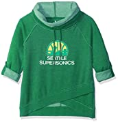 Officially licensed NBA hardwood classic Apparel 60% cotton/40% poly fleece Double layer funnel neck with Drawstring ties, Raglan sleeves, relaxed silhouette Burned-out, over-dyed fleece Pullover with cross-over detailing at front hem Team logo soft ...