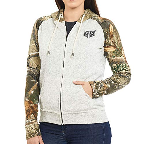 Women's Realtree Edge Camo Full Zip Hooded Jacket (Large)