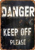 危険を避けてください 金属板ブリキ看板警告サイン注意サイン表示パネル情報サイン金属安全サイン