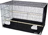 "Lot of Ten - 20"" x 14"" x 14"" Breeding Bird Cages With Nest door on the both sides; Safe Epoxy Coated Finish Large Lift Up Front door, Three feeder cup doors. Wood perches, Clear Feeder Cups. Slide out bottom tray Bar Spacing: 3/8"""