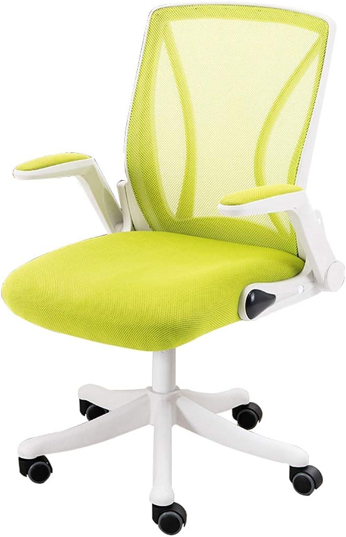 Ergonomische Computer-Stühle mit hoher Rückenlehne Drehstühle für Arbeitszimmer im Büro 8cm Hhenverstellbar 360 ° Lenkrollen Grün