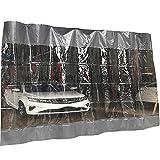 LSXIAO Isoliervorhang, PVC-Kunststoffplatte, Windschutzscheibe Nähplane Wasserdicht Staubdicht Mit Tülle Für Gelände, Veranden, Pavillons (Color : Clear Gray, Size : 2x2.5m)