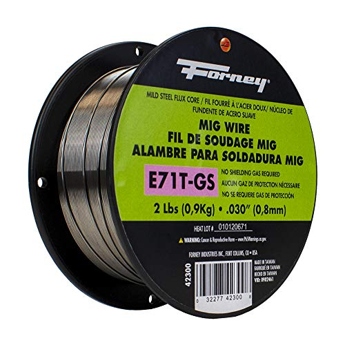 Forney 42300 Flux Core Mig Wire, Mild Steel E71TGS.030-Diameter, 2-Pound Spool, Silver, Pack of 1. Buy it now for 19.45