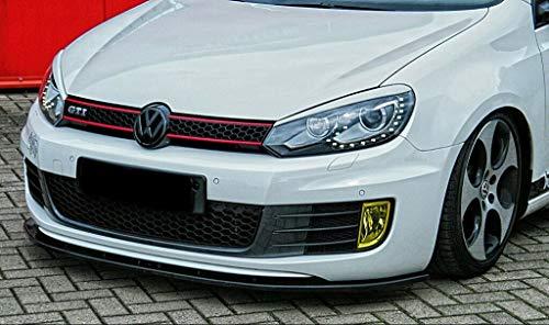 CUP Spoilerlippe schwarz matt unlackiert kompatibel für Golf 6 1K GTI GTD Frontspoiler Spoilerschwert Frontlippe Frontdiffusor Frontlippe ABS mit ABE NEU Gutachten IN