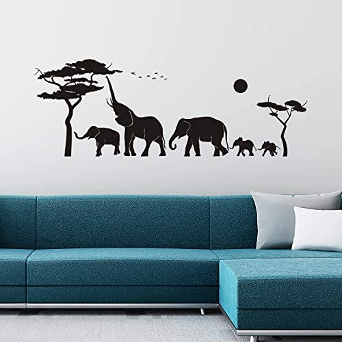 VODOE Wall Decals for Kids Elephant Wall Decals Living Room Nursery Bedroom Playroom Children product image