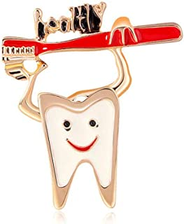 N/W Enamel Glaze Craft brooches for Women Cartoon Tooth Photo Brooch Pin for Women, Girls, Ladies