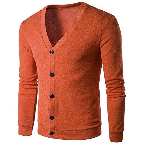 Heren Winter Knop V Hals Gebreide Trui Cardigan, Herfst Lange Mouwen Tops Dikke Jas Knitwear Warm-up Sweatshirt