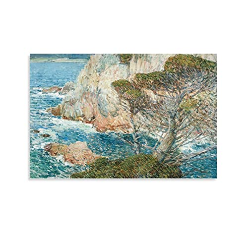 GY Modern Home Decor Paintings Sea Shore Rocks Trees Sea a Great Gift Idea for Kids or Boys 08x12inch(20x30cm)