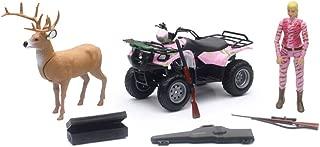 New Ray Wild Hunter Deer Hunting W/ Pink Camo Suzuki ATV & Figure