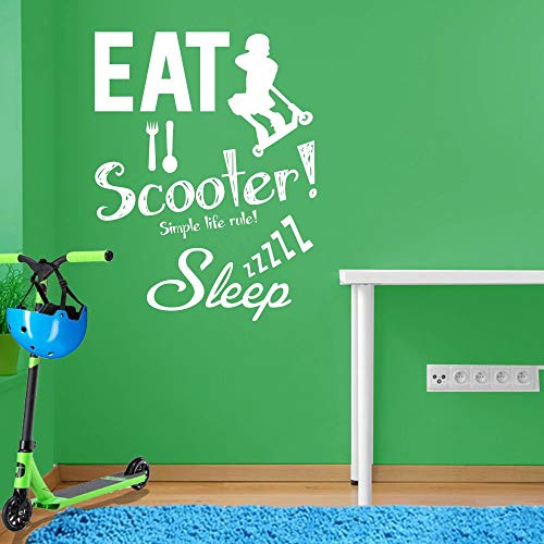 Stunt Scooter muursticker A102