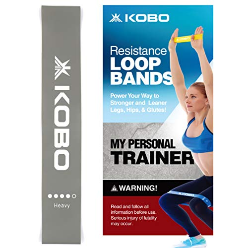 "AC-81 Resistance Loop Band 2"" Wide for Squats, Hips & Glutes, Yoga, Crossfit, Stretching, Strength Training, Physical Therapy for Men & Women - Includes Travel Bag & Workout Guide Booklet"