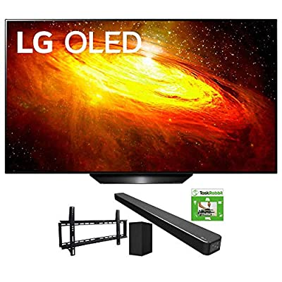 LG BX 4K Smart OLED TV with AI ThinQ (2020) Bundle SN6Y 3.1 Channel High Res Audio Sound Bar + TaskRabbit Installation Services + Vivitar Low Profile Flat TV Wall Mount by LG