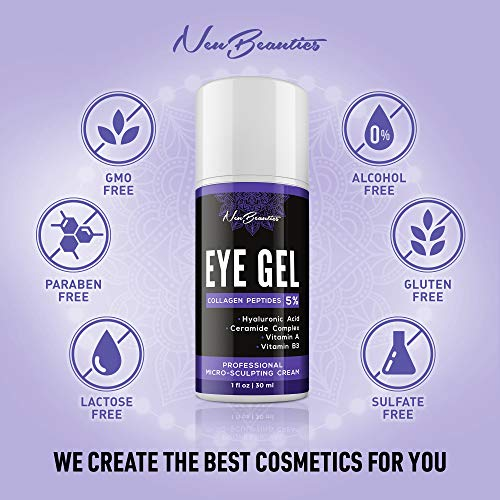 51ZA4MBBnDL - Micro-Sculpting Anti-Aging Eye Gel - Natural & Made in USA - Under Eye Cream for Dark Circles and Puffiness - Anti-Wrinkle & Fine Line Reduction Effect - Rich Wrinkle Cream for Puffy Eyes & Eye Bags