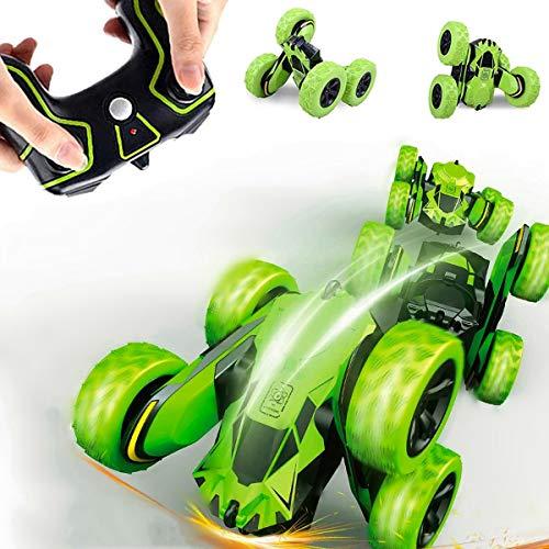 Innoo Tech Ferngesteuertes Auto Wiederaufladbar RC Stunt Auto Rennauto mit 2,4 Ghz Fernsteuerung, High Speed Spielzeugauto, Radio Ferngesteuerter Buggy Auto, Rennfahrzeug für Kinder (Grün)