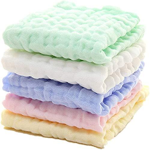 Bestsmile 5 unids/lote toalla de bebé 6 capas muselina suave pañuelo niños algodón saliva baberos bebé cuadrado toalla de cara bebé cosas
