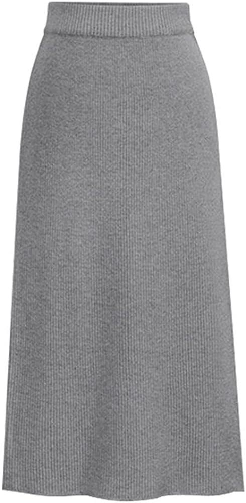 NP Knit Skirts Womens Long Long Skirt Large Autumn Winter Winter Skirt Waist Skirt