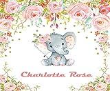 5D DIY Diamond Painting Kits Boho Elephant Pink Gold Baby Girl Nursery Full Drill Painting Arts Craft Canvas Home Wall Decor Full Drill Cross Stitch Gift 12X16 Inch