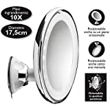 Macom 224 Cromo, Color Blanco - Espejo (LED, AAA, 1,5 V, 175 mm, 73 mm, 200 mm)