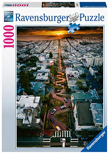 Ravensburger Puzzle 16732 - San Francisco Lombard Street - 1000 Teile Puzzle für Erwachsene und Kinder ab 14 Jahren, Puzzle mit Stadt-Motiv von San Francisco, USA