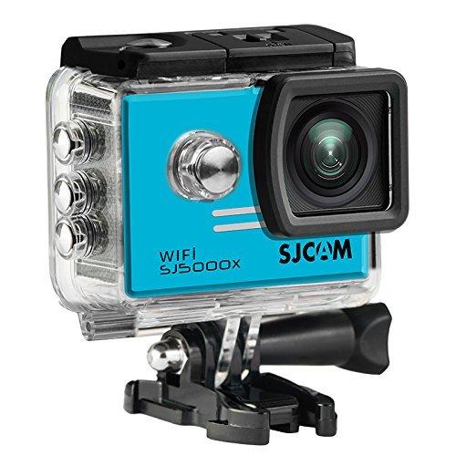 16GB TF Card+SJCAM SJ5000X Elite Sports Action Camera Ultra-HD 2.0 Inch LTPS WiFi 4K 24fps Sport DV 2.0 LCD NTK96660 Diving 30m Waterproof Action Camera+1pcs Battery Charger+1pcs Extra Battery(Blue)