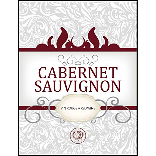 LD Carlson Cabernet Sauvignon Adhesive Wine Bottle Labels - 30-Pack