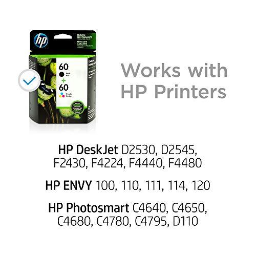 HP 60 | 2 Ink Cartridges | Black, Tri-color | CC640WN, CC643WN