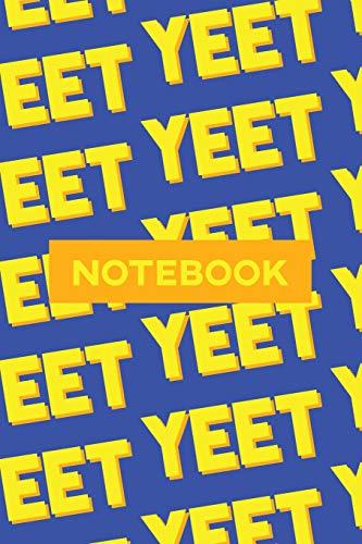 Notebook: Yeet Yellow Orange Typography Meme Pattern