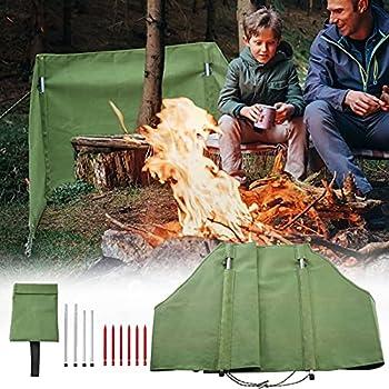 PaNt camping pare-vent 165*80*60cm étanche grille unique camping brise-vent tissu oxford pare-brise extérieur pour barbecue barrière pare-vent portable avec sac de rangement pour randonnée camping