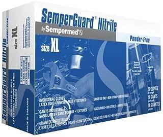 Sempermed INIPFT104 SemperGuard Nitrile Glove, Powder-Free, Large, Blue (Case of 1000)