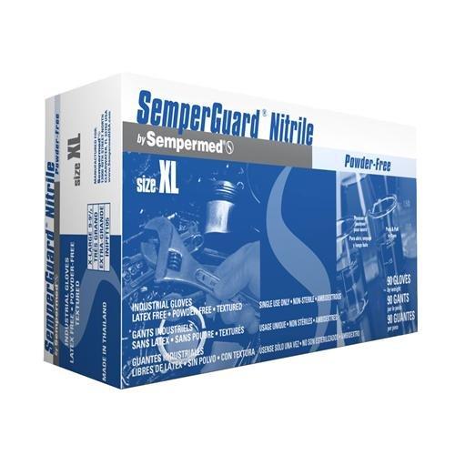 Sempermed INIPFT102 SemperGuard Nitrile Glove, Powder-Free, Small, Blue (Case of 1000)