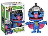 Barrio Sesamo Funko Pop! - Super Grover 01 Figura de colección Standard, Vinilo,