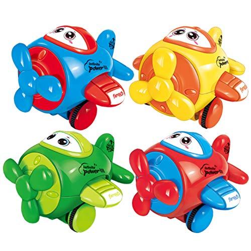 Zocita Kids Push and Go Airplane Toy Set, Inertia Powered Cartoon...