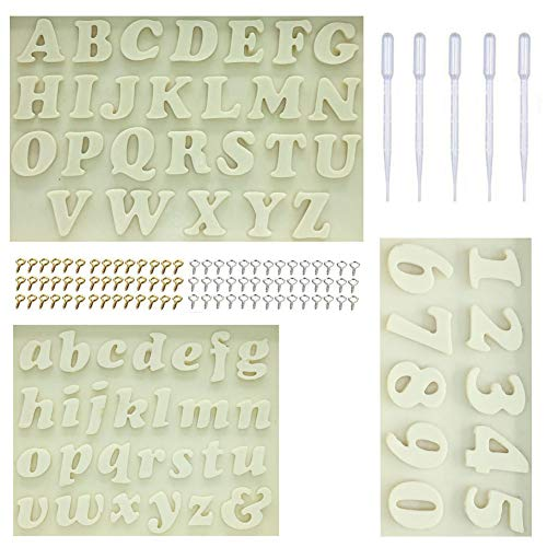 Letter/Number Silicone Mould Fondant Mould Cake Decoration Tool Chocolate Mould Kitchen Baking Mould (408pcs)