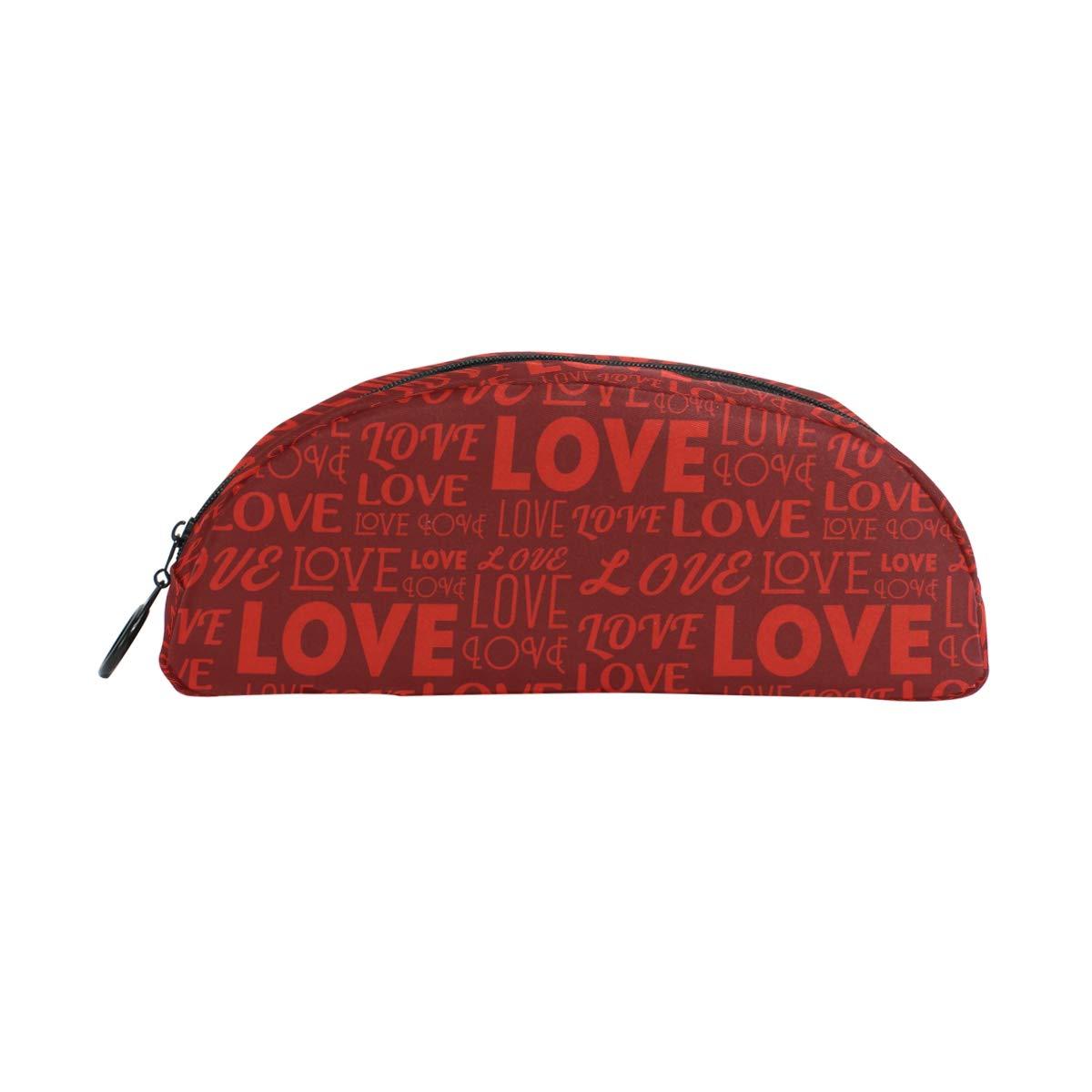 WowPrint estuches para lápices, carta de amor para el día de San Valentín, con cremallera, multifuncional, bolsa de maquillaje para niñas, niños, adultos, hombres, unisex: Amazon.es: Oficina y papelería