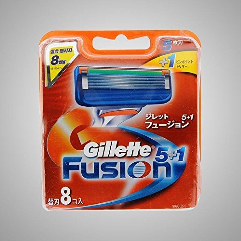 甘美なマラドロイトテレビを見るGillette Fusion Manual Razor Blades Refills Safety Razor ドイツ製 8 Pack [並行輸入品]