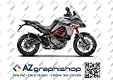 Kit DE Pegatinas Motocicleta MULTISTRADA 950 S Grand Tour Style FS-MULTI-950S (Glossy Gray)