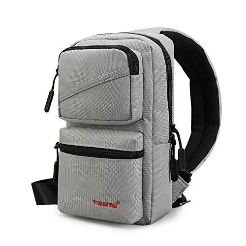 Backpack Rucksack Laptop Bag Men'S Messenger Bags Business Shoulder Bags Leisure Sling Bag Women Messenger Mini Chest Bags For 9.7' Ipad Greym