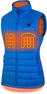Women's Heated Vest with Battery Pack, YKK Zippers and Water&Wind Resistant Blue