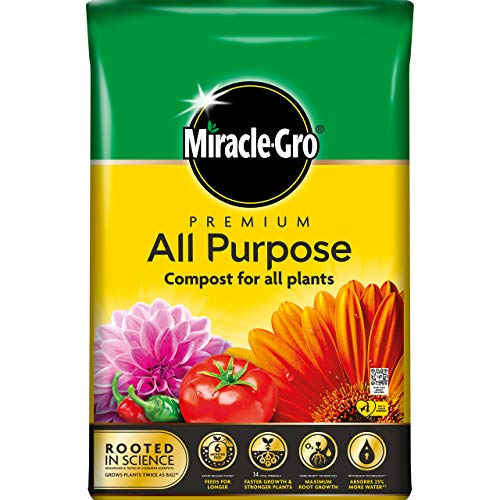 Miracle-Gro All Purpose Compost - 40 Litre BAG, (New 2021 Range)