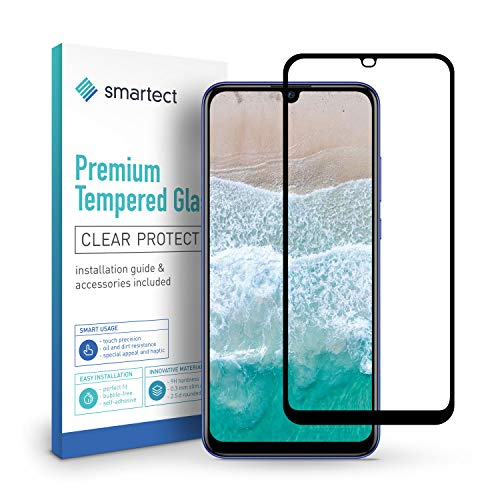 smartect Full Screen Beschermglas compatibel met Huawei P Smart Plus 2019 [2x Full Screen] - screen protector met 9H hardheid - bubbelvrije beschermlaag - antivingerafdruk kogelvrije glasfolie