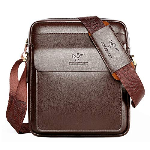 Polo Mann echtes Leder Apple Umhängetasche Schultertasche Casual Crossbody Business Bag Business Aktentasche braun schwarz