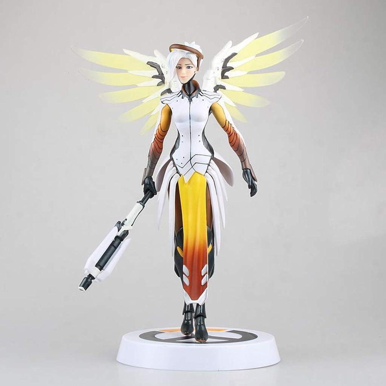 凝縮する剃る解くゲームモデル、PVC子供のおもちゃコレクション像、デスクトップの装飾的なおもちゃ像のおもちゃモデル、天使(20cm) JSFQ